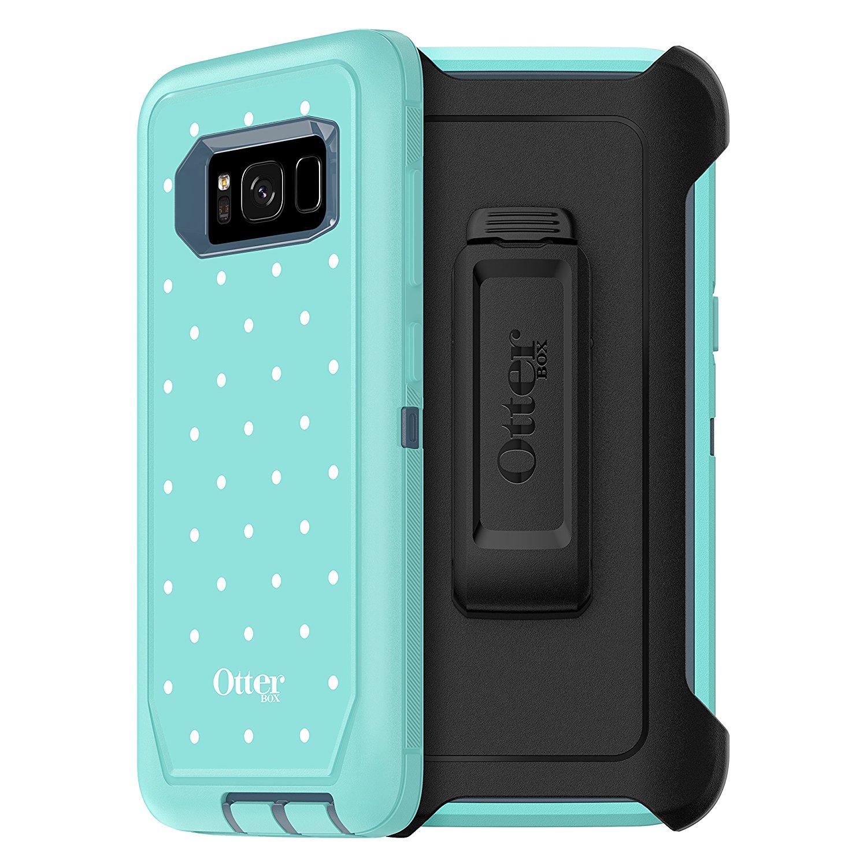 buy online 31401 2474a SAMSUNG GALAXY S8 OTTERBOX DEFENDER CASE - MINT DOT (TEMPEST BLUE ...