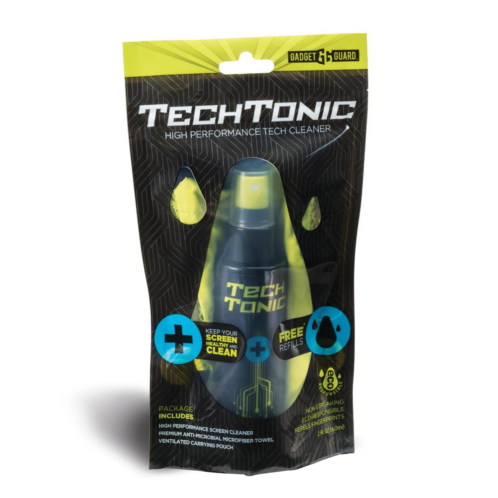 GADGET GUARD TECHTONIC SCREEN CLEANER KIT WITH MICROFIBER CLEANING CLOTH AND POUCH - 2 OZ