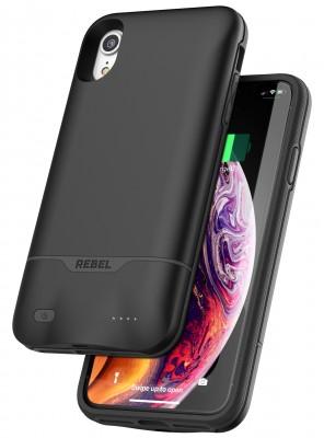 IPhone XR Black Rebel Power Wireless charging - Battery Case