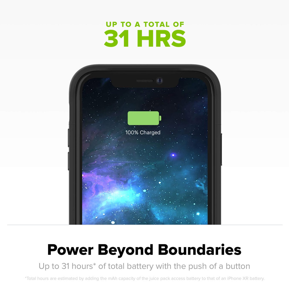 Mophie - juice pack access Power Bank Case 2,000 mAh for Apple iPhone Xs / X - Black