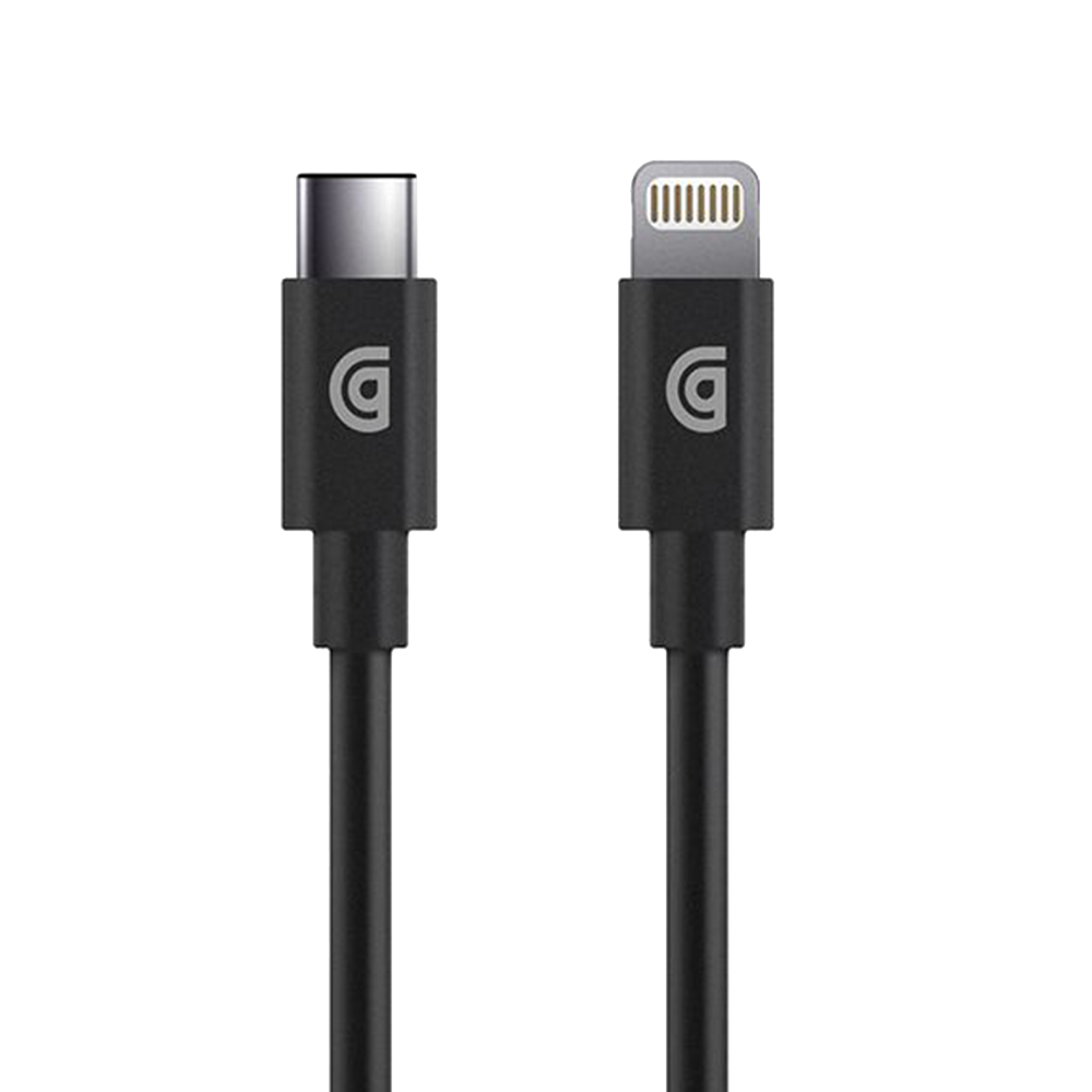 Griffin - Apple Lightning to USB Type C Cable 3ft - Black