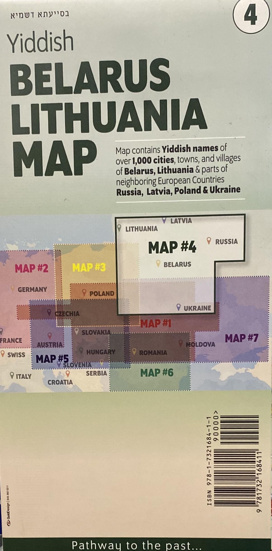 Belarus Lithuania Yidish Maps