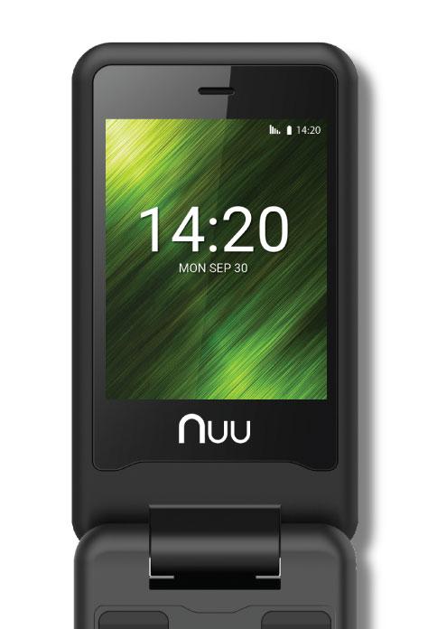NUU Mobile F4L Flip Phone Talk and Text