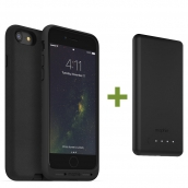 Mophie Charge Force Wireless Charging Bundle - Includes Charge Force Case And Wireless Charging Base For Apple Iphone 7 / Iphone 8 - Black