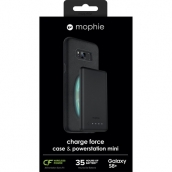 Mophie Charge Force Wireless Charging Bundle - Includes Charge Force Case And Charge Force Powerstation Mini (3000 Mah) For Samsung Galaxy S8 Plus - Black