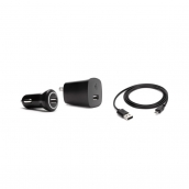 Griffin Powerduo Usb Wall Charger (10w) And Usb Car Charger (10w) With Micro Usb Cable - Black