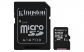 Kingston Canvas Select Class 10 Microsd 64gb With Sd Adapter