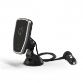 Scosche Magicmount Charge Magnetic Qi Wireless Charging Window And Dash Mount - 15w - Includes Car Charger Adapter - Black