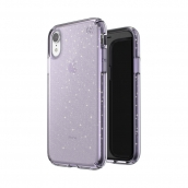Speck - Presidio Clear Glitter Case For Apple Iphone Xr - Geode Purple And Gold Glitter