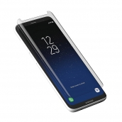 Zagg - Invisibleshield Curved Glass Screen Protector For Samsung Galaxy S8 - Clear