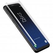 Zagg - Invisibleshield Curved Glass Screen Protector For Samsung Galaxy S8 Plus - Clear