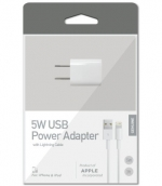 Apple Original 8pin Lighting Wall Charger - Cube & 3 Ft Data Cable
