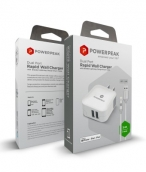 Powerpeak Dual Port Rapid Wall Charger With Lightning Cable