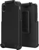 Base Rugged Armor Pro Tech Protective Case With Holster For Iphone Xs Max - Black