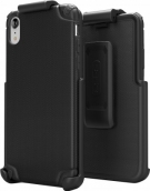 Base Rugged Armor Pro Tech Protective Case With Holster For Iphone Xr - Black