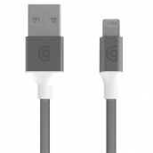 Griffin - Braided Apple Lightning Cable 5ft - Silver