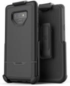 Note 9 Rebel Case Galaxy Case Belt Clip Holster, (dual Layer Hybrid)