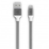 Griffin - Braided Apple Lightning Cable 10ft - Silver