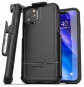 Rebel Series-protective Dual Layer Impact Armor With Holster For Iphone 11 (6.1) - Black