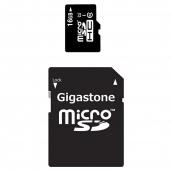 Gigastone - Microsdhc Memory Card 16gb - Black