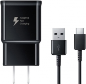 Samsung Fast Charge Travel Charger With Usb-c Cable, Black (bulk)