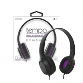 Tempo Stereo Headphone With Mc In Purple