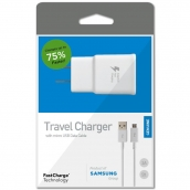 Samsung Fast Charge Micro Home Charger (head & Data Cable) - White